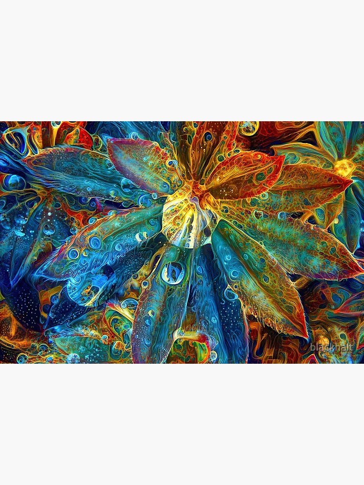 Abstract digital painting of extraterrestrial flowers by blackhalt