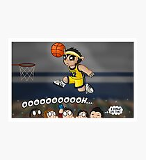 A Howling Good Dunk Photographic Print
