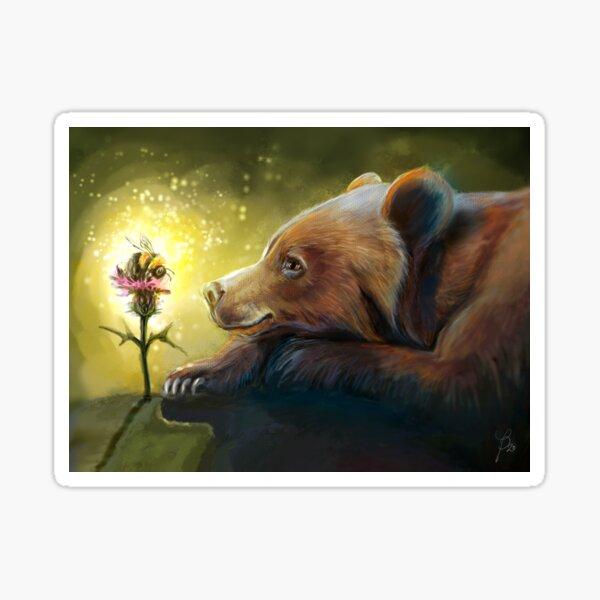 Bumblebee bear Sticker
