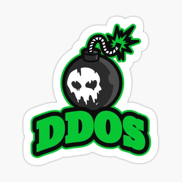 Cyber Security - Hacker DDos Attack Sticker