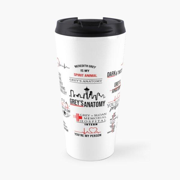 grey's anatomy pattern Travel Mug