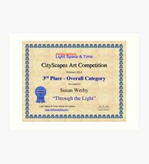 "3rd Place- Overall ""Cityscapes""Category- Through the Light Art Print"