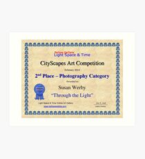 2nd Place-Photography-Through the Light Art Print