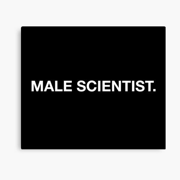 Male scientist Canvas Print