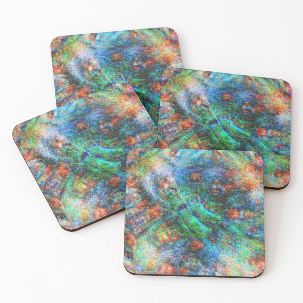 Mermaid #DeepDream Coasters (Set of 4)