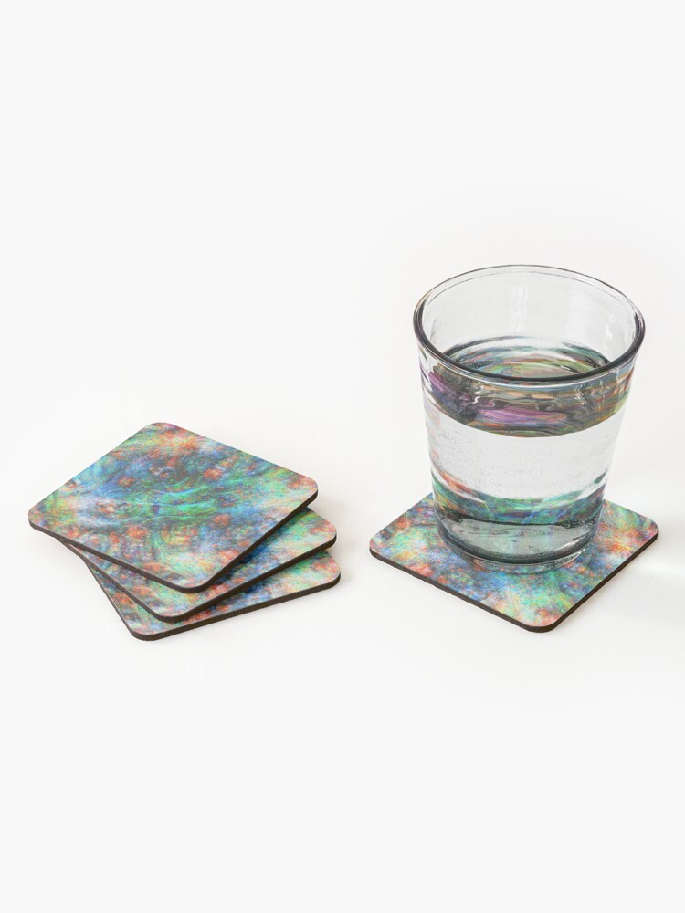 Alternate view of Mermaid #DeepDream Coasters (Set of 4)