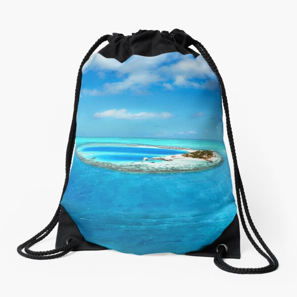 Unisex Greece Santorini Garden Drawstring Bag Travel Bag for Men Women