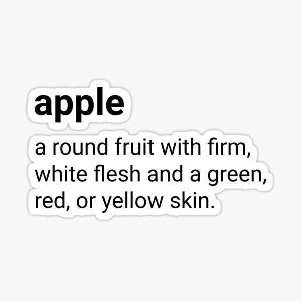 Apple - dictionary definition Sticker