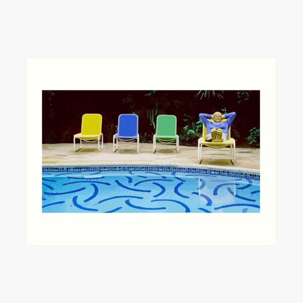 David Hockney Relaxing Vector Art Art Print