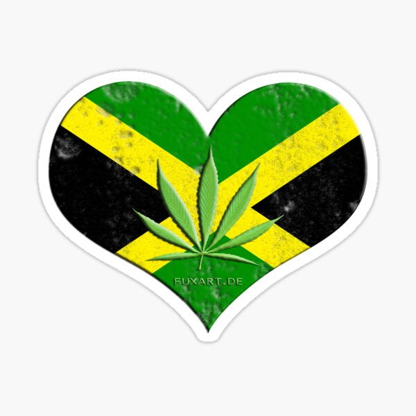 Jamaika Ganja Sticker