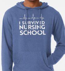 I Survived Nursing School Lightweight Hoodie