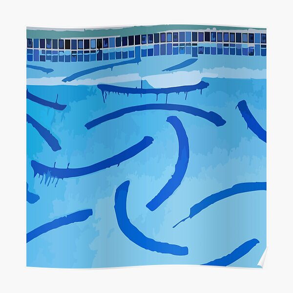 The Swimming Pool Of David Hockney Poster
