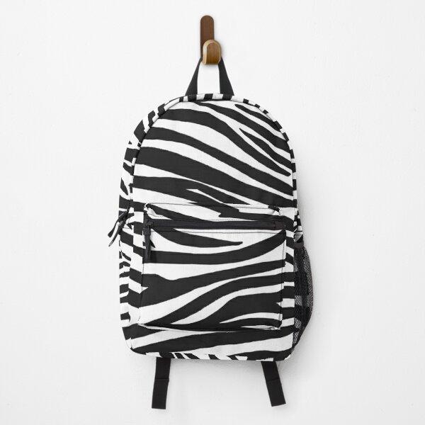 Zebra Stripes Black and White  Backpack