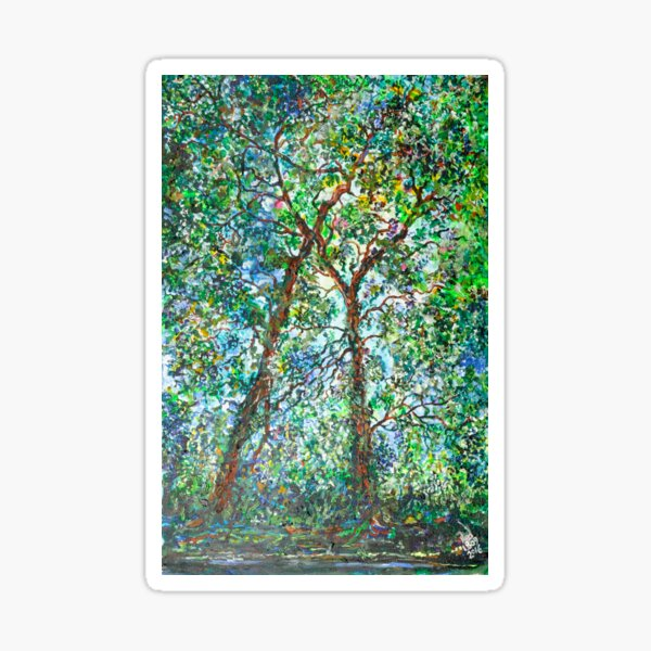 Kissing Trees Sticker