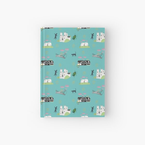 York, a pattern featuring architecture and little details of the city Hardcover Journal