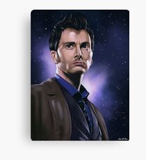 Tenth Doctor Portrait Fan Art Print Canvas Print