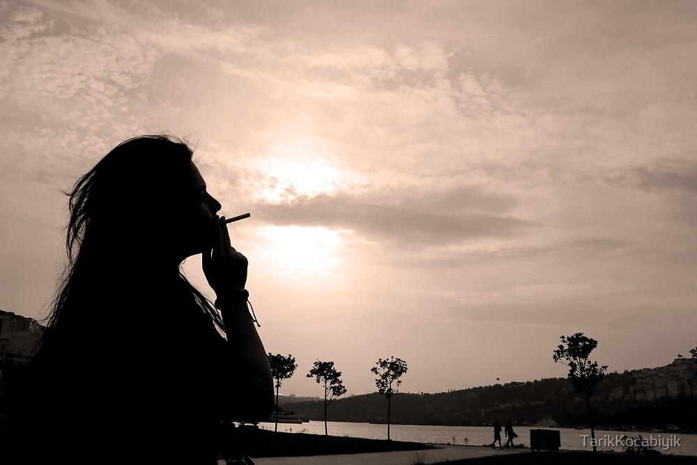 woman with cigarette by TarikKocabiyik