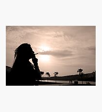 woman with cigarette Photographic Print