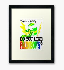 The Factory Slogan Framed Print