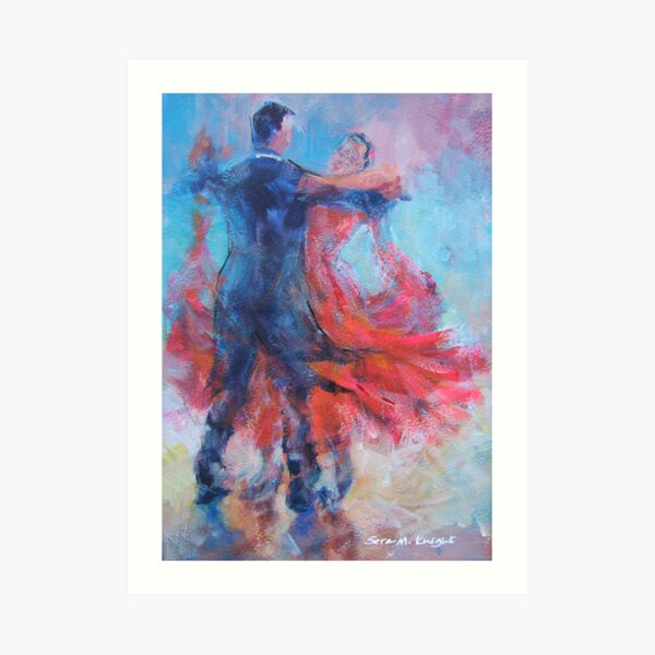 Ballroom Dancers In Hold - Dance Art Gallery Art Print