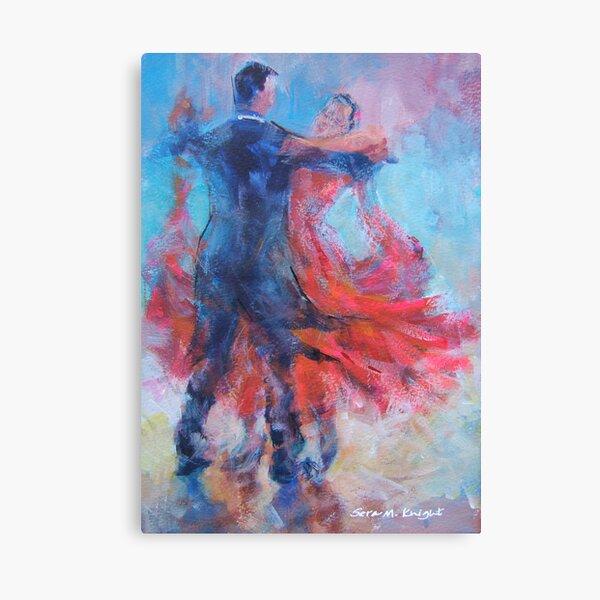 Ballroom Dancers In Hold - Dance Art Gallery Canvas Print