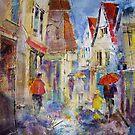 Shopping In The Rain - Umbrellas Art Gallery by Ballet Dance-Artist