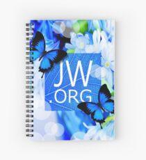 JW.ORG (Blue flowers and butterflies) Spiral Notebook