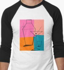 Pop Art Martini Men's Baseball ¾ T-Shirt