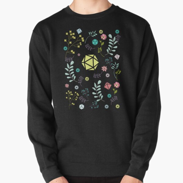 Flowers Plants and Succulents Polyhedral Dice Set Pullover Sweatshirt