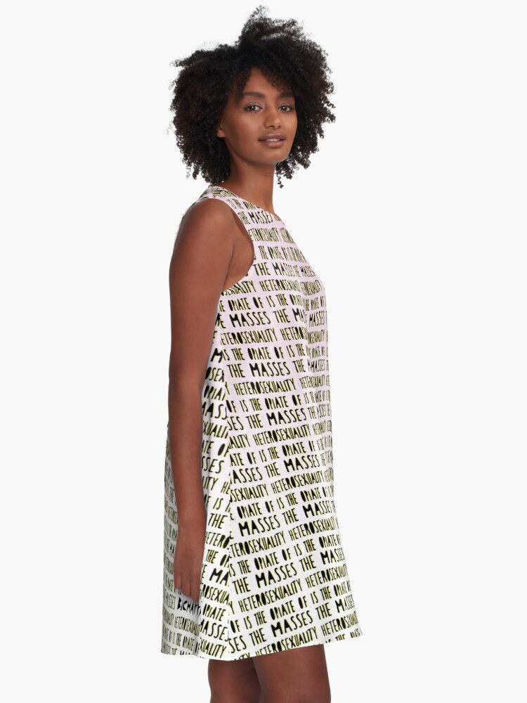Alternate view of Heterosexuality is the opiate of the masses A-Line Dress