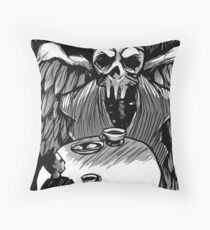 Dark Contemplation Throw Pillow