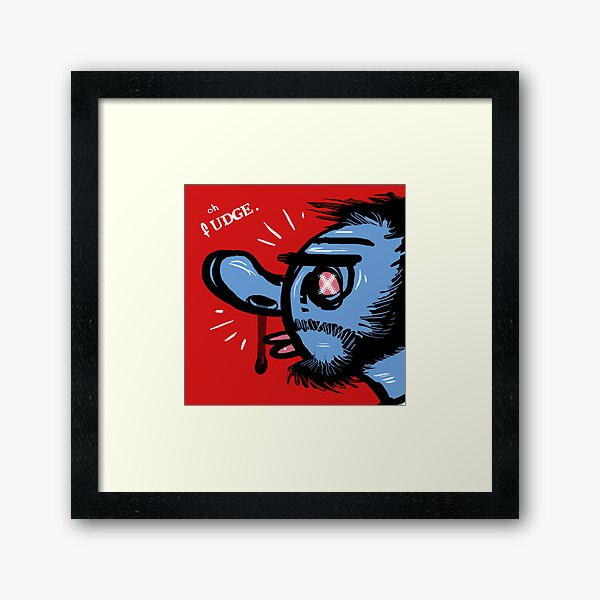 Oh Fudge. Framed Art Print