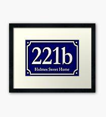 221b - Holmes Sweet Home Framed Print