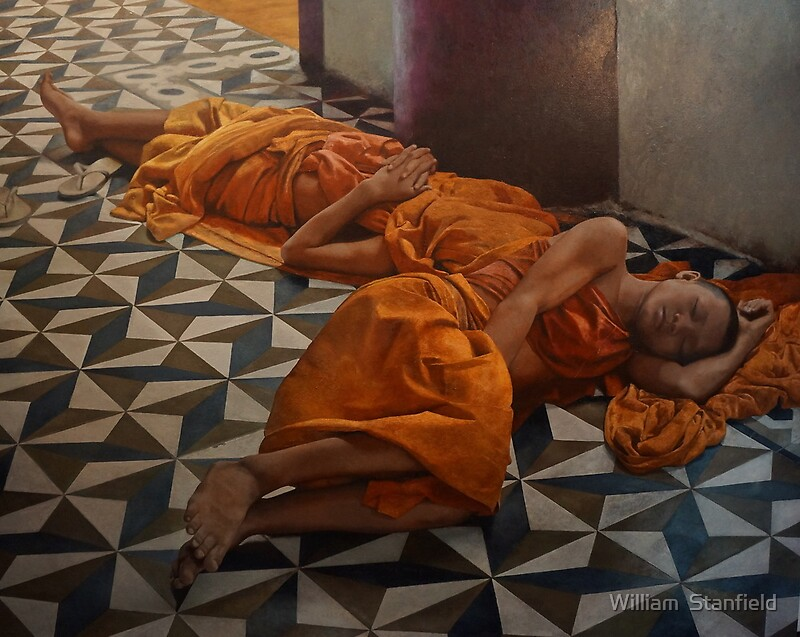 Quot Sleeping Monks Quot By William Stanfield Redbubble