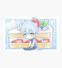 Mouse Kuroko and Strawberry Shortcake Photographic Print