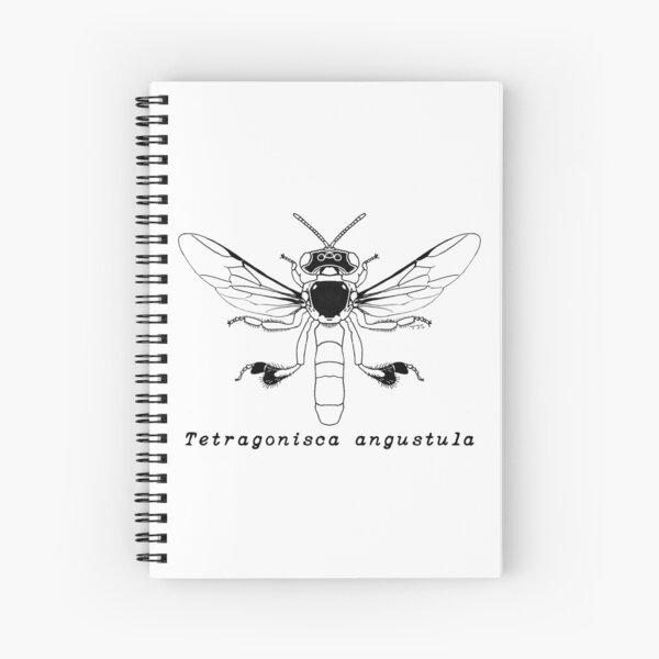 Tetragonisca angustula - Black Design Spiral Notebook