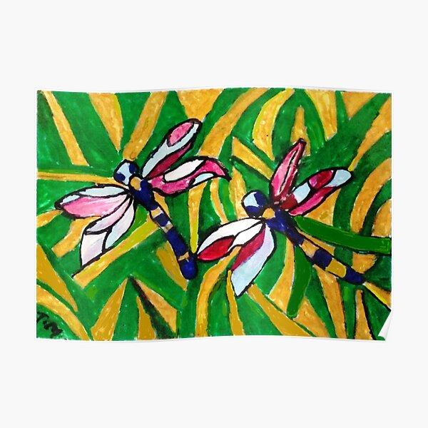 Summer Dragonflies Poster
