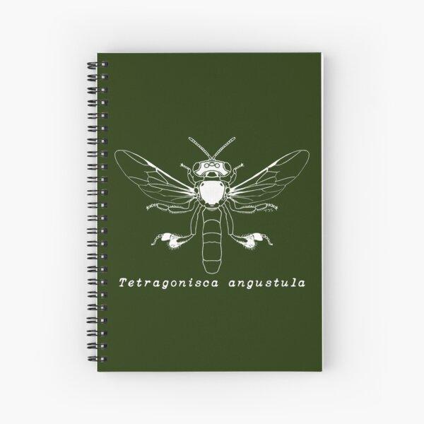 Tetragonisca angustula - White Design Spiral Notebook