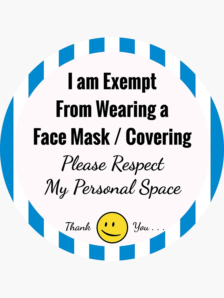 Exempt From Wearing a Face Mask (Blue) by hoxtonboy