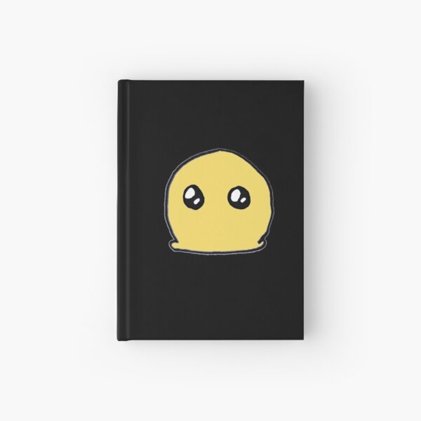 Blob on a black background Hardcover Journal