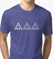 Sierpinski, Triangle, Mathematics, Fractal, Math, Geometry Tri-blend T-Shirt