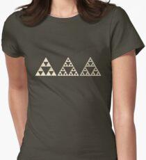 Sierpinski, Triangle, Mathematics, Fractal, Math, Geometry Women's Fitted T-Shirt
