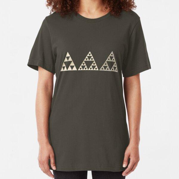 Sierpinski, Triangle, Mathematics, Fractal, Math, Geometry Slim Fit T-Shirt