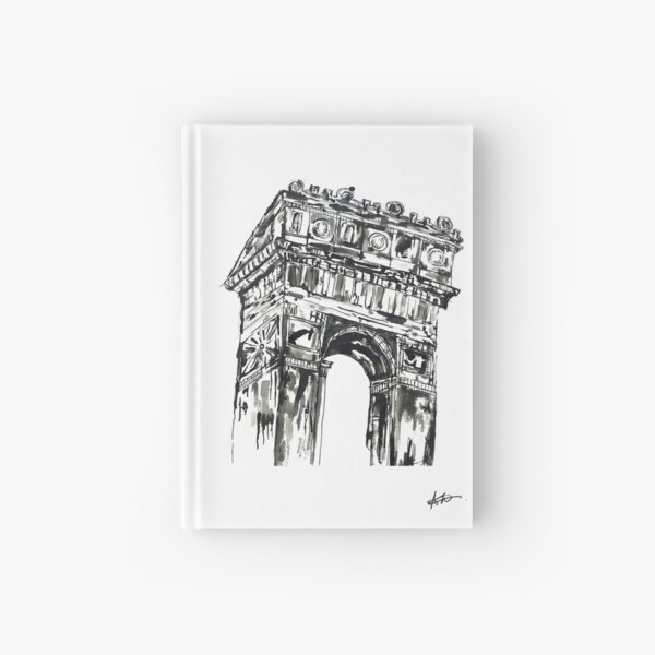 Arc de Triopmphe Ink Dawing  Hardcover Journal