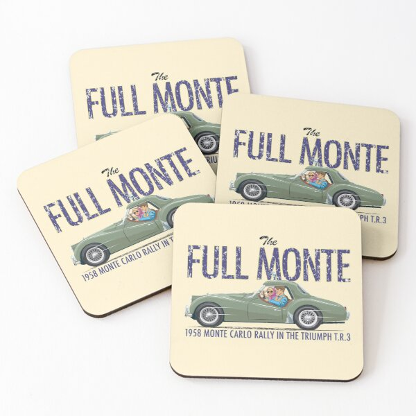 Apple Green TR3a prepared for the Monte Carlo Rally  Coasters (Set of 4)