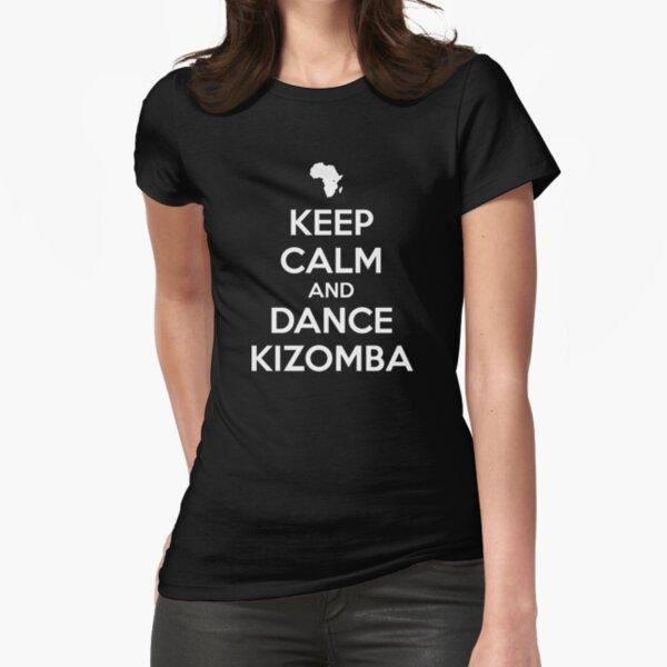 Mantenga la calma y baile kizomba Camiseta entallada