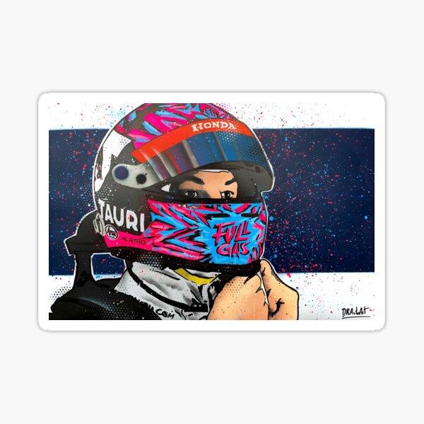 Pierre Gasly, Full Gas - F1 graffiti painting by DRAutoArt Sticker