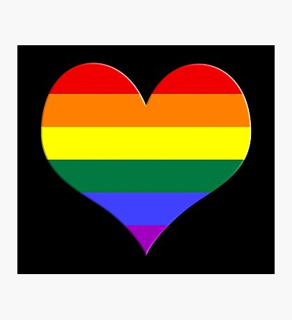 gay heart - gay, love, csd, rainbow, lesbian, pride Photographic Print