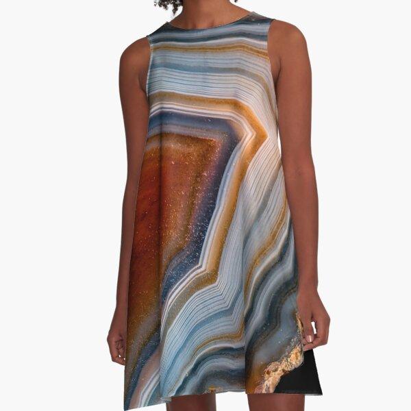 Layered agate geode 3163 A-Line Dress