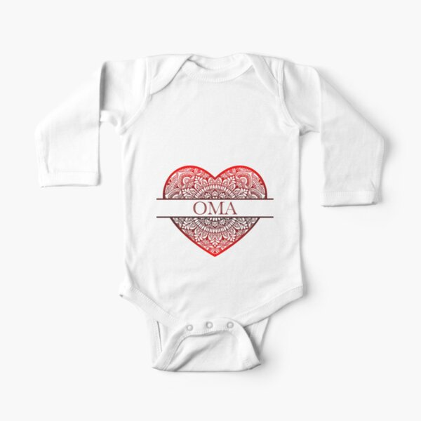 Oma Long Sleeve Baby One-Piece   Redbubble